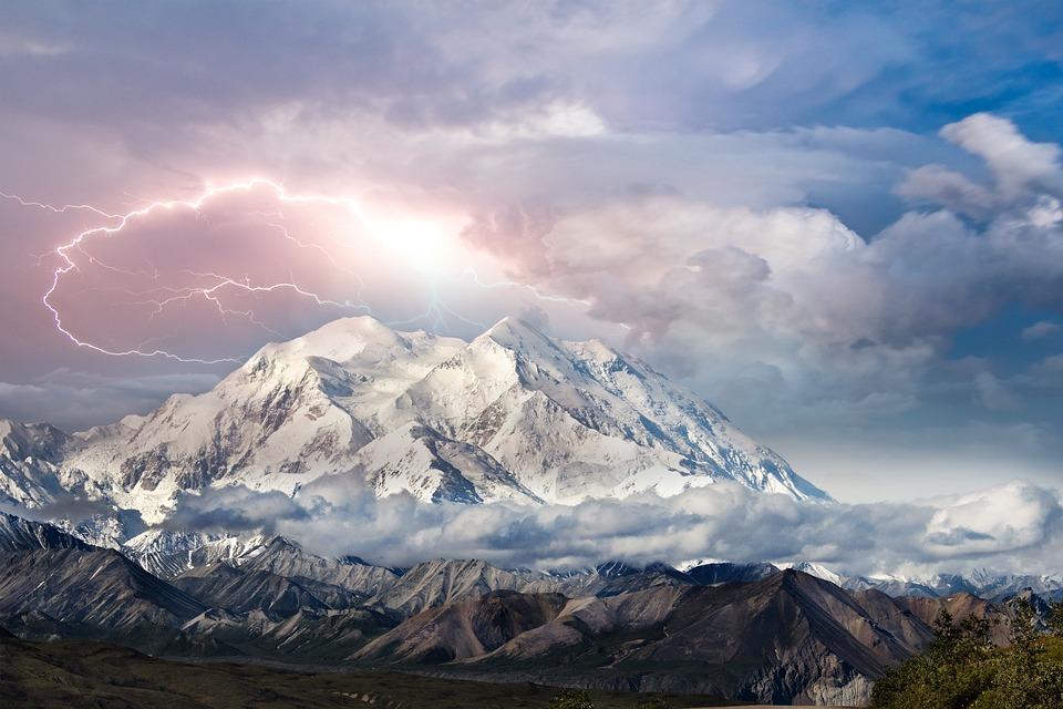 Panorama, Montagna, Tempesta, Sky, Nuvole, Neve