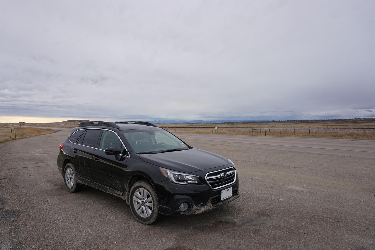 Subaru in a field