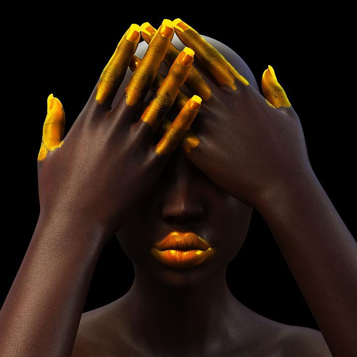 Woman, Black, Portrait, Model, Beauty, Despair, Pain