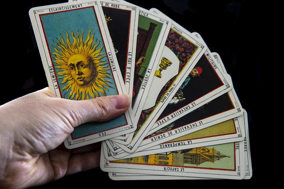 タロット, マジック, Fortune, 未来, 神秘主義の, 潜, 地図, 占い, 密教, 千里眼, カード