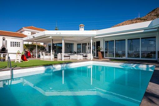 Pool, Terrace, Architecture, Building