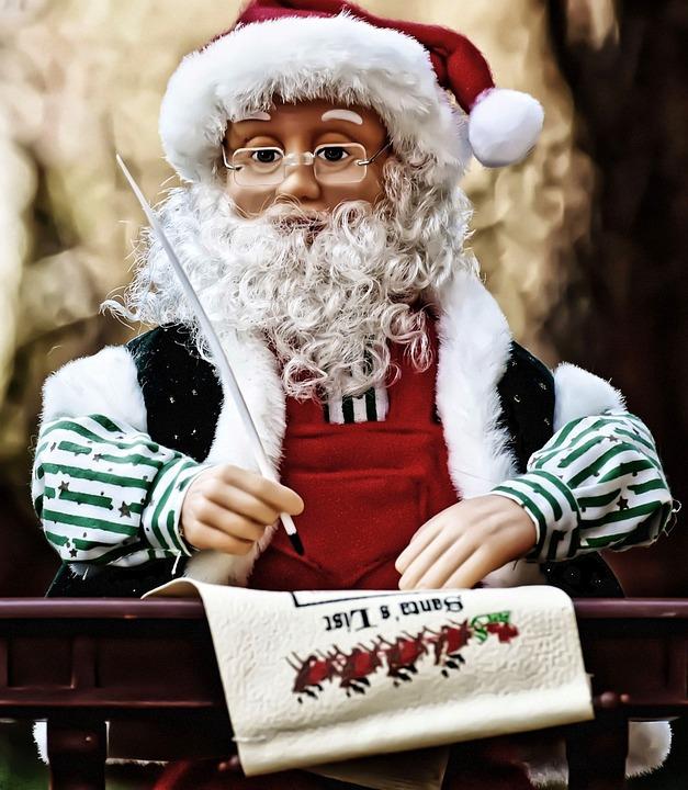 Navidad, Santa Claus, Lista De Deseos, Figura
