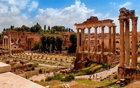 The Roman Forum, Rome, Ancient, Italy