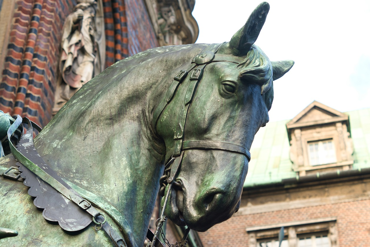Horse Head Sculpture Metal Free Photo On Pixabay