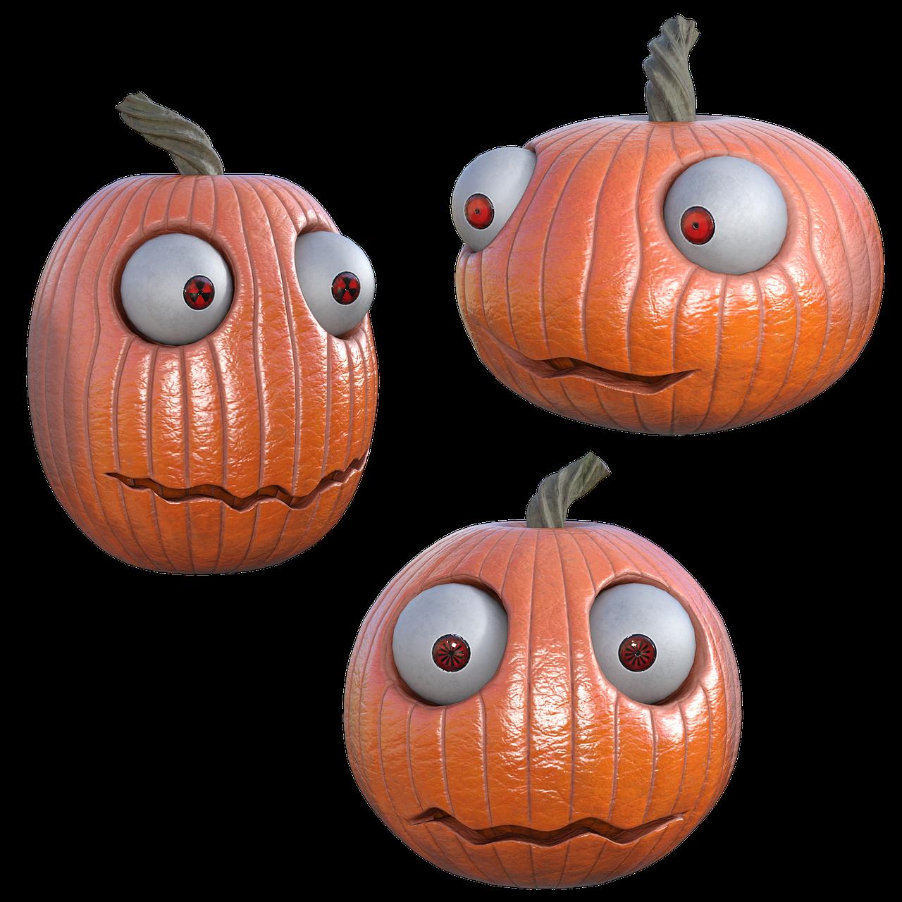 Funny Pumpkins 3d Render Free Image On Pixabay