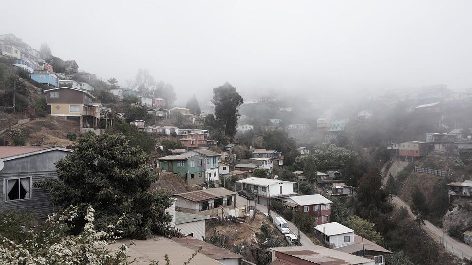 Valparaiso, Houses, Chili, Wood, Heaven, Door, Painted