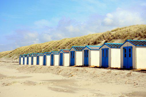 Beach, Beach Cottage, Texel, Sand Beach