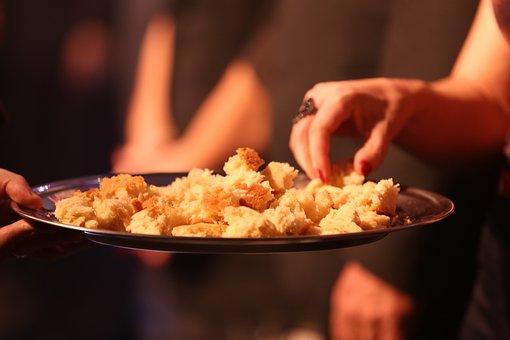 Mãos, Pão, Alimentos, Caseiro, Ceia