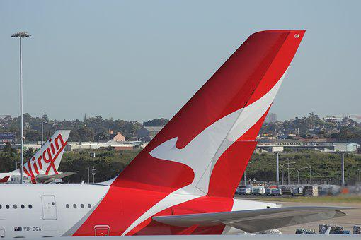 Qantas, Aerolínea, Etiquetas, Australia