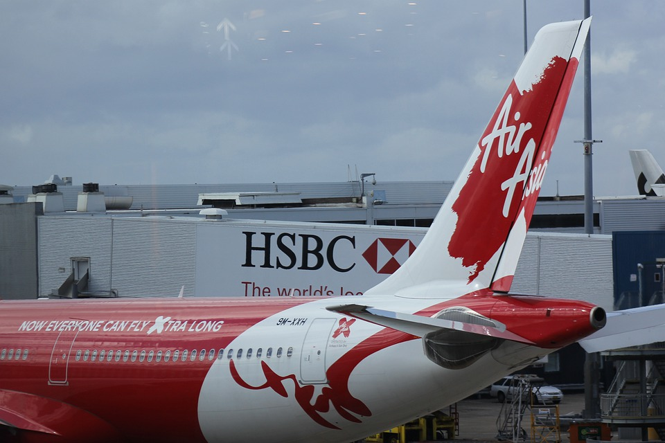 Airline, Decals, Air Asia, Brand, Red, Tail Wing