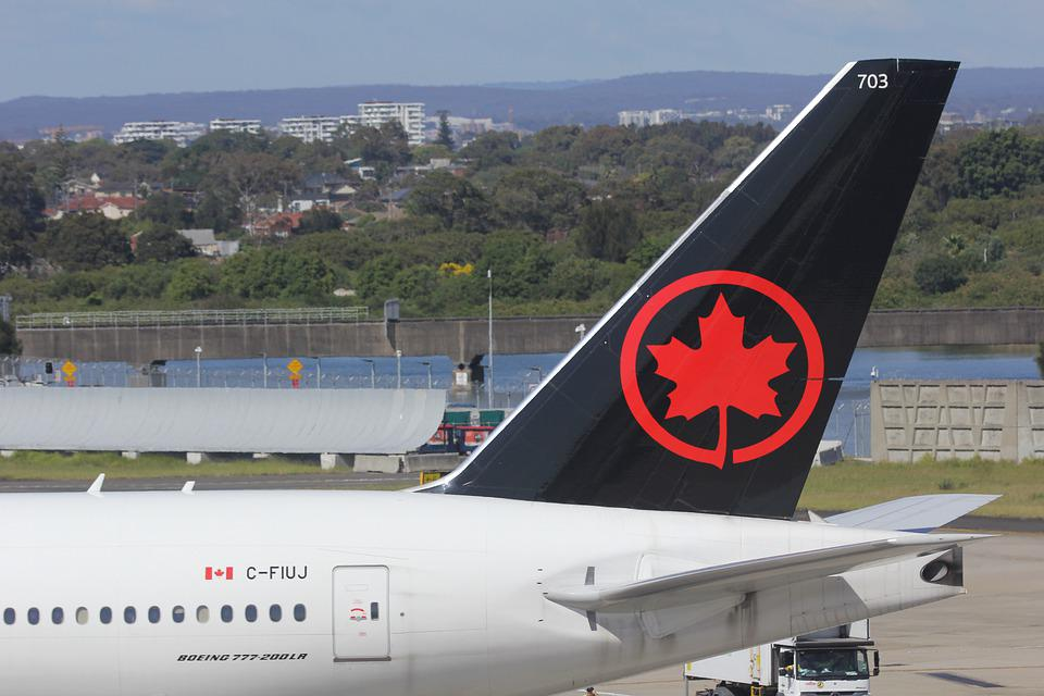 Airline, Decals, Air, Canada, Maple Leaf, Brand, Black
