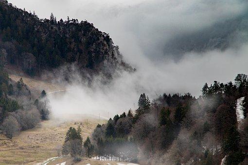 Fog, Mountains, Mood, Grenchenberg