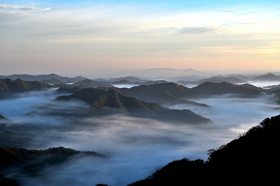 雲海, 山, 自然, 風景, 雲, 日本, 光, 登山