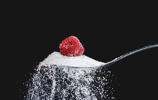 Raspberry, Sugar, Spoon, Eat, Sweet