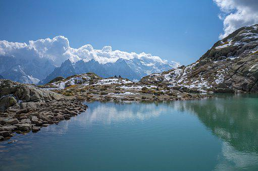 Lake, Mountain, White, Mount, Chamonix