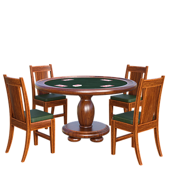 Poker Table, 3D, Render, Cards, Play