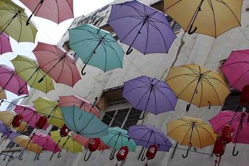 Warna, Warna Warni, Musim Semi, Payung