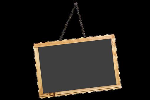 Black, Board, Chalk Traces, School