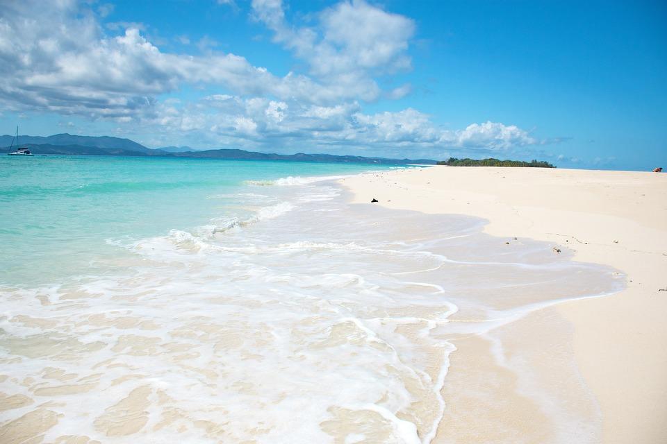 Playa, Nosy Iranja, Madagascar, Isla, La Costa