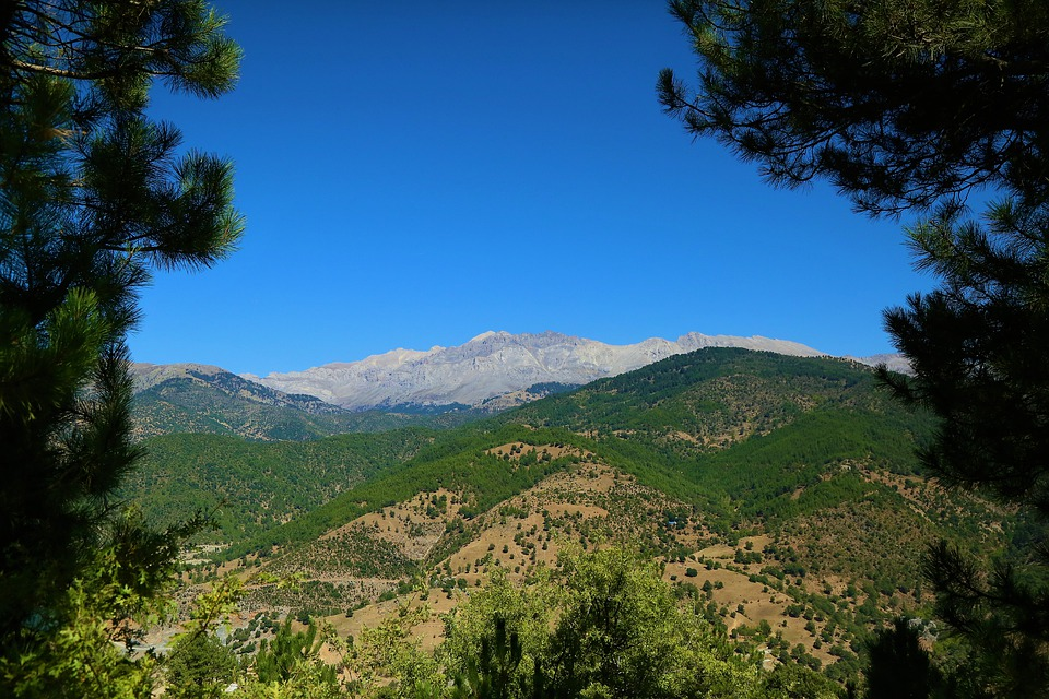 Landscape, Mountains, Nature, Panorama, Sky, Trees
