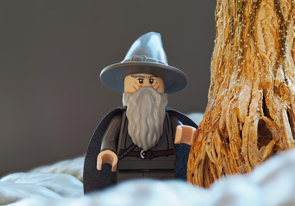 Lego, Wizard, Gandalf, Gray, Grey, Forest, Tree