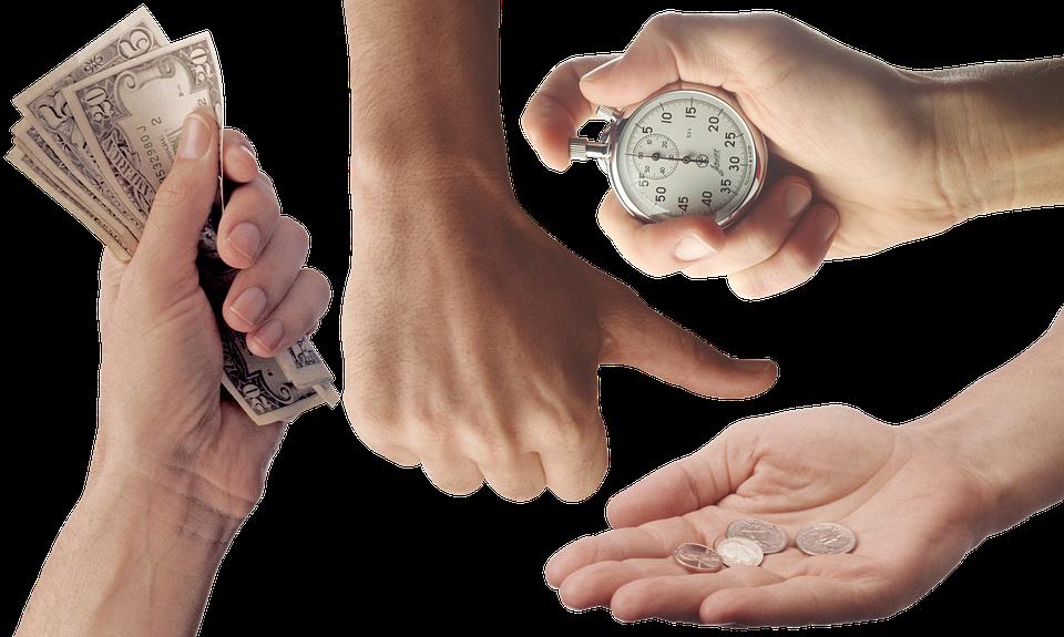 Ръце, Money, Длан, Дреболия, Монети, Долара