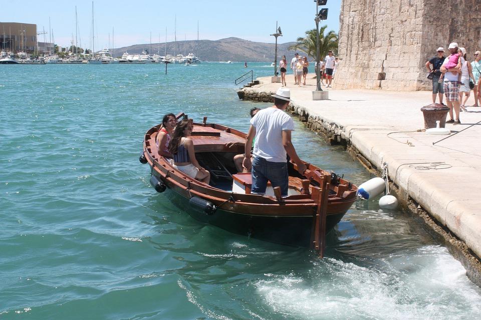 Boat, Water Taxi, Shipping, Trogir, Croatia, Tourists