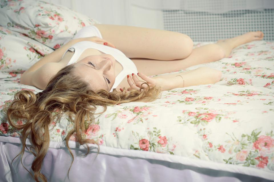 Girl Lying On Bed, Resting, Sleeps, Dream, Cute, Home
