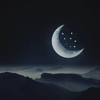 Mond, Sterne, Nacht, Traum, Landschaft