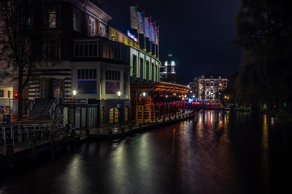 Amsterdam, Rio, City, Europe, Netherlands, Night