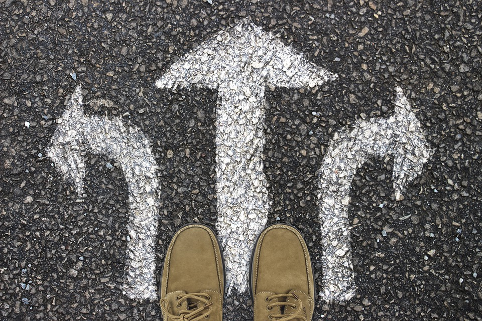 Away, Feet, Shoes, Road Surface, Direction, Arrow