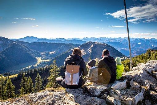 パノラマ, 高山, 良いビュー, Hochwald, もみ, 山
