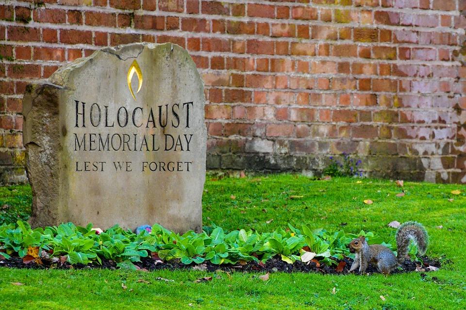 Cemetery, Head Stone, Squirrel, Flower Bed, Bricks