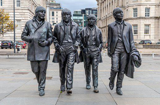 Beatles, Statue, Lennon, Mccartney