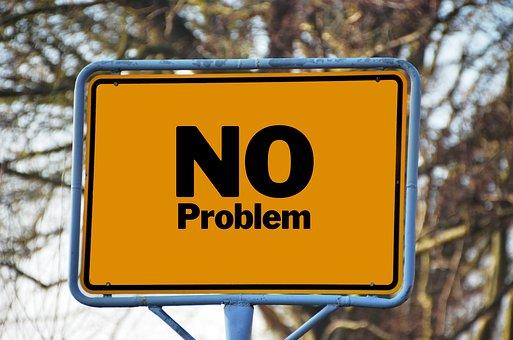 問題, 町に署名, 注意してください, 地名標識, 問題なし, ソリューション