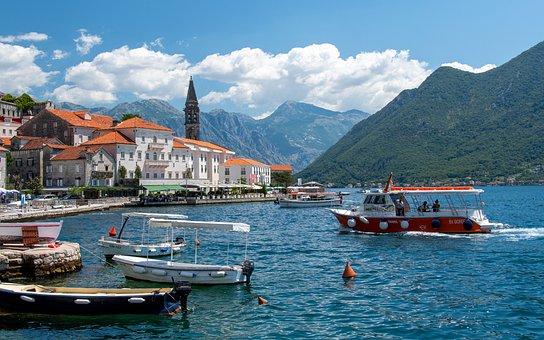 Perast, Havet, Montenegro, Båt, Port