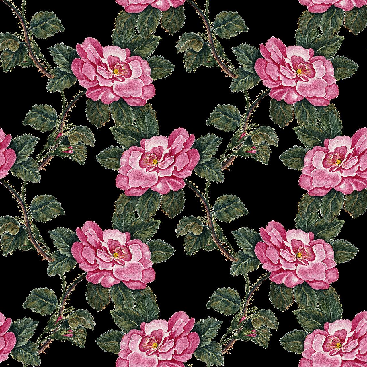 Vintage floral ringtures #5