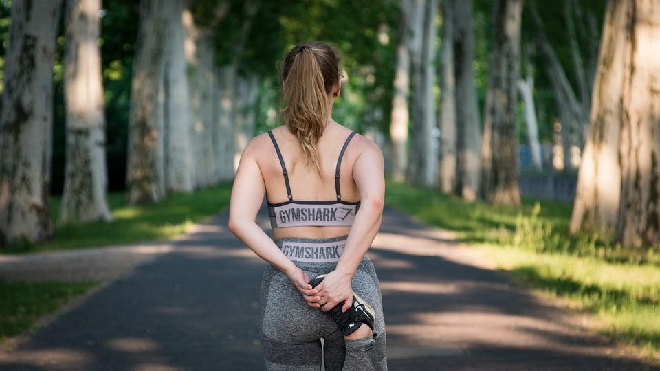 女性, フィットネス, トレーニング, 筋肉, 適合, スポーツ, 健康, セクシーです, ジョギング, 運動