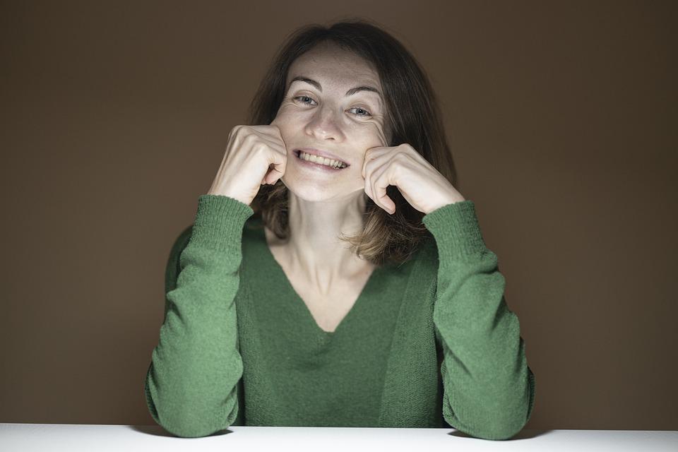Rire, Sourire, Femme, Jeune Fille, Portrait, Modèle