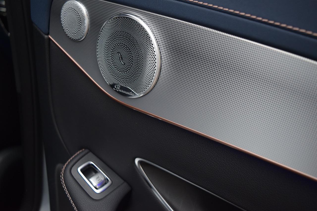 Sound system inside of a luxury car