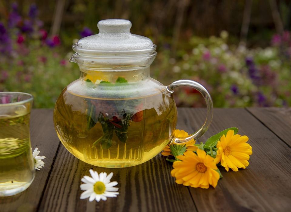Чай, Календула, Травяной, Напиток, Цветы, Релаксации