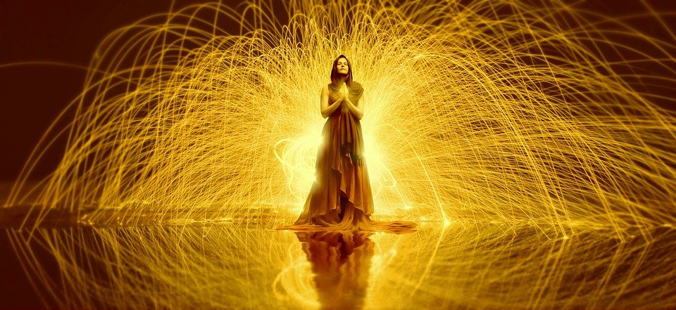 Frau, Gebet, Glauben, Hoffnung, Religion, Licht
