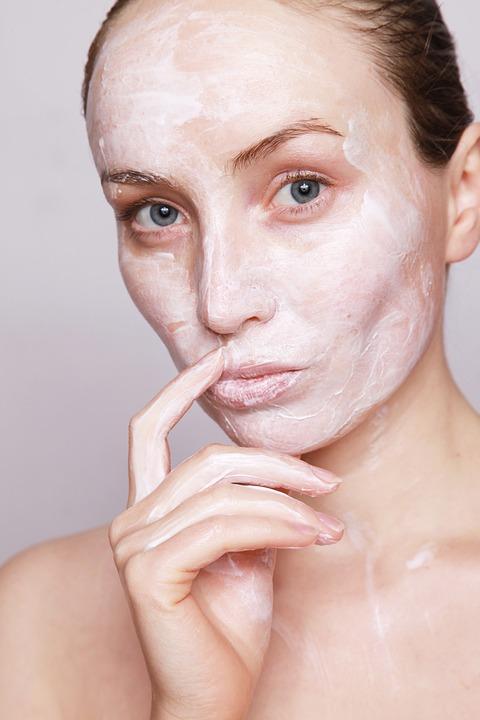 Kobieta, Śmietana, Piękno, Skincare, Skóry, Opieki
