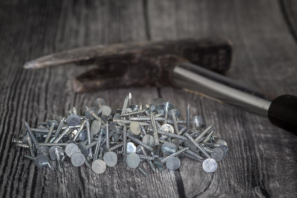 Roofers, Nails, Colorful, Zinc Plated, Zinc, Metal