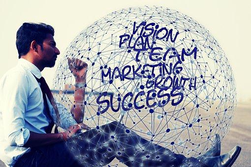 成功, を起動します, 顔, 少年, 頭, ビジョン, 計画, マーケティング