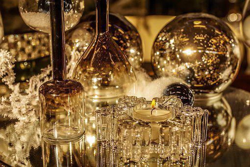 Tealight, Glass, Candle, Decoration