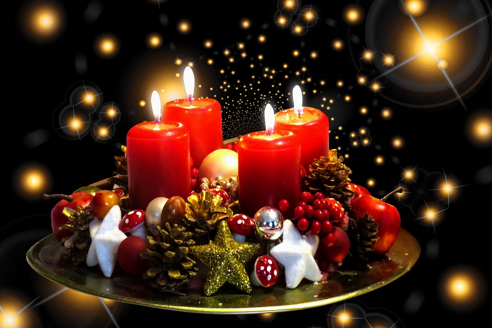 Emotions, Background, Advent, Candles, Wreath, Lights