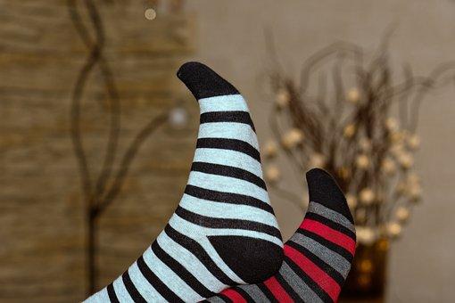 Socks, Wool, Knit, Bamdussocken