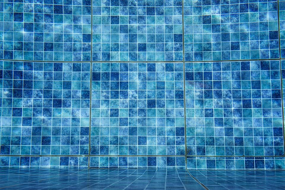 スイミング プール, スイミング, タイル, ブルー, 青, 水, 休日, リラックス, ぬれた, 楽しい