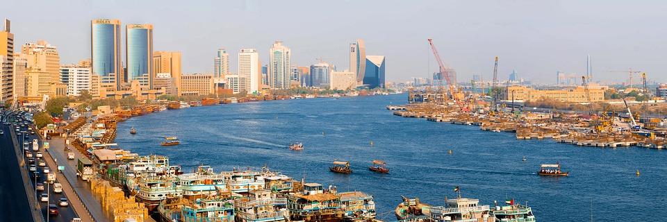Creek, Abra, Cityscape, Deira, Boat, Arabic